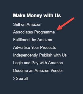 Click on Associates Programme