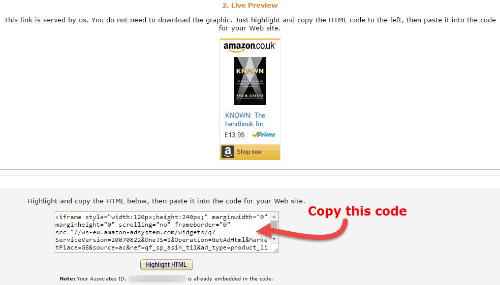 How to Put an Amazon Affiliate Link on WordPress - David
