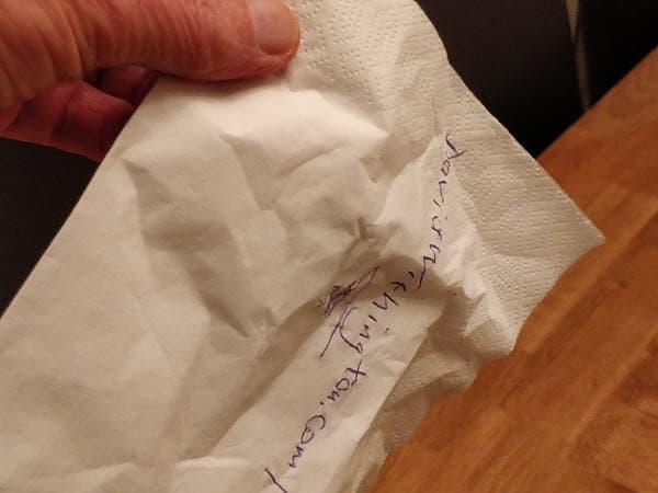 SEO napkin