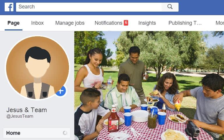 Jesus Team on Facebook Page