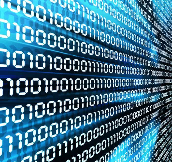 Computers speak in binary code