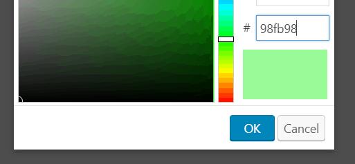 Select it yourself with hexadecimal
