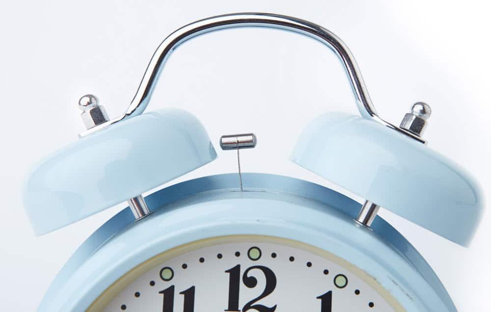 The alarm clock is redundant